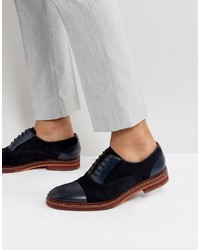 Ted Baker Saskat Suede Oxford Shoes In Navy