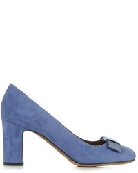 Flora bow detail suede pumps medium 722870