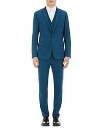 Dolce & Gabbana Martini Three Piece Suit Blue