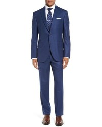 David Donahue Ryan Classic Fit Solid Wool Suit