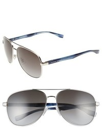 BOSS 0700s 60mm Aviator Sunglasses Palladium Dark Horn