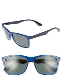 Ray-Ban 57mm Square Sunglasses Blue