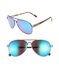 Vince Camuto 59mm Metal Aviator Sunglasses Matte Blue One Size