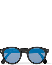 Illesteva Leonard D Frame Acetate Mirrored Sunglasses