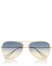 Isabel Marant Matt Aviator Style Metal Sunglasses