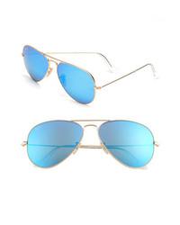 Ray-Ban Original Aviator 58mm Sunglasses Gold Blue None