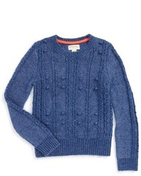 Girls Johnnie B By Boden Cable Knit Sweater