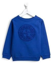 Stone Island Kids Raised Logo Sweatshirt