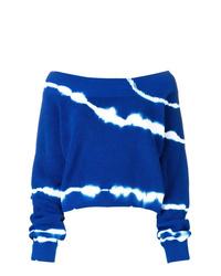 Blue Tie-Dye Crew-neck Sweater