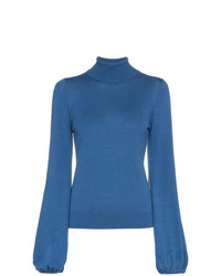 Staud Diane Turtleneck Knitted Wool Jumper