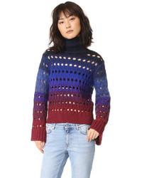 Tie dye turtleneck sweater medium 794624