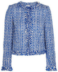 Alice + Olivia Alice Olivia Nila Tweed Jacket Blue