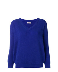 Liska Ribbed V Neck Jumper