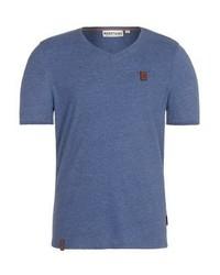 Naketano Basic T Shirt Mottled Blue