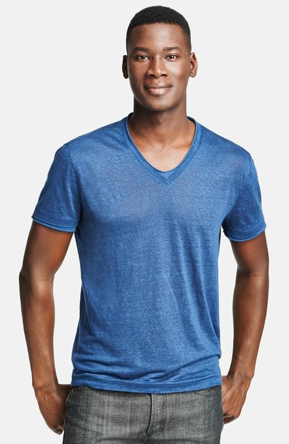 3274750ac2d5 John Varvatos Collection Linen V Neck T Shirt, £133   Nordstrom ...