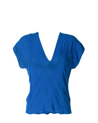Pierantoniogaspari Stretch V Neck Top