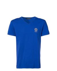 Versace V Neck Medusa Logo T Shirt