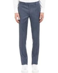 Blue Vertical Striped Dress Pants