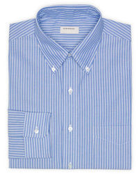 Blue Vertical Striped Dress Shirt