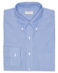 Blue Vertical Striped Dress Shirt