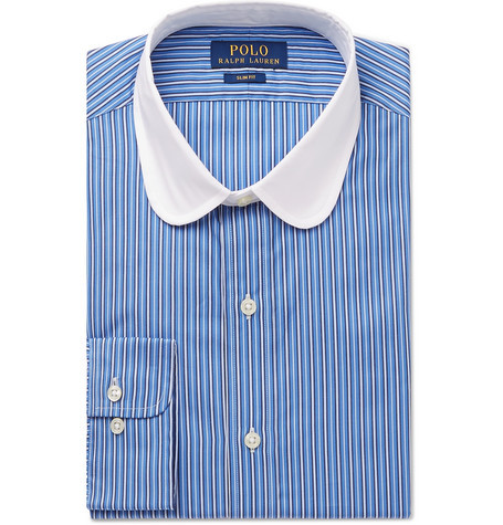 lowest price new release official sale £45, Polo Ralph Lauren Slim Fit Penny Collar Striped Cotton Shirt