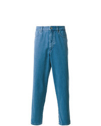 Blue Vertical Striped Jeans