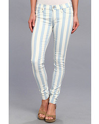 Blue Vertical Striped Jeans