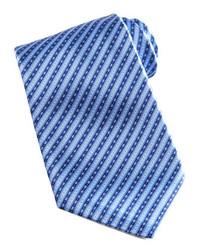 Striped silk tie bluenavy medium 153735