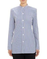 Blue Vertical Striped Tunic