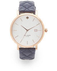 Kate Spade New York Quilted Navy Metro Watch