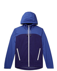 J.Crew Colour Block Cotton And Nylon Blend Hooded Jacket