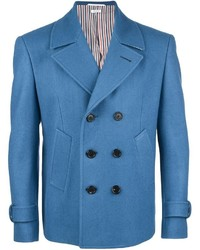 Blue Wool Double Breasted Blazer