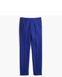 Blue Wool Skinny Pants
