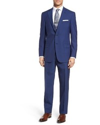 Hart Schaffner Marx Classic Fit Solid Wool Suit