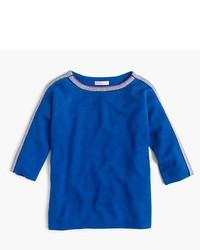 J.Crew Girls Sparkle Trim Popver Sweater