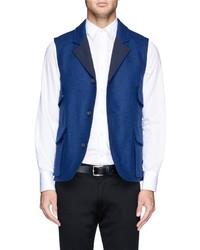 Blue Wool Waistcoat