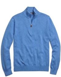 Blue Zip Neck Sweater