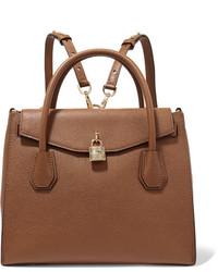 MICHAEL Michael Kors Michl Michl Kors Mercer Convertible Textured Leather Backpack Tan