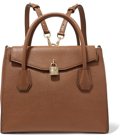 b382375c3079 ... MICHAEL Michael Kors Michl Michl Kors Mercer Convertible Textured  Leather Backpack Tan ...