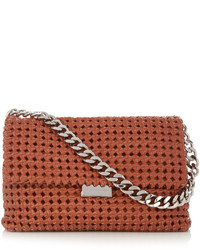 Stella McCartney Becks Medium Woven Faux Leather Shoulder Bag