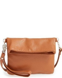Capelli of New York Girls Foldover Crossbody Bag Beige