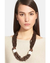 eskandar Coconut Bead Necklace