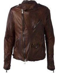 Brown biker jacket original 8633817