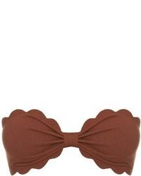 Marysia Swim Antibes Scallop Edged Bandeau Bikini Top