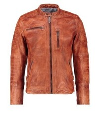 Pepe Jeans Howard Leather Jacket 869tan