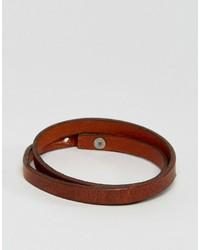Jack and Jones Jack Jones Jacbrian Layered Bracelet In Brown