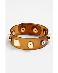 Cara Couture Studded Bracelet Brown