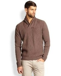 Brown Cable Sweater