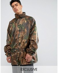 Brown Camouflage Military Jacket