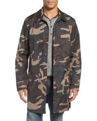 Camo packable trench coat medium 816304